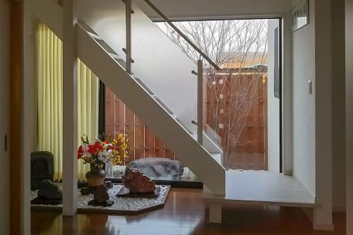 階段も季節を感じて